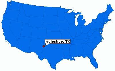 Mapa Muleshoe, TX - EUA - 10/02/2016 - Fernanda Bellei (na cor Azul feio que dói)