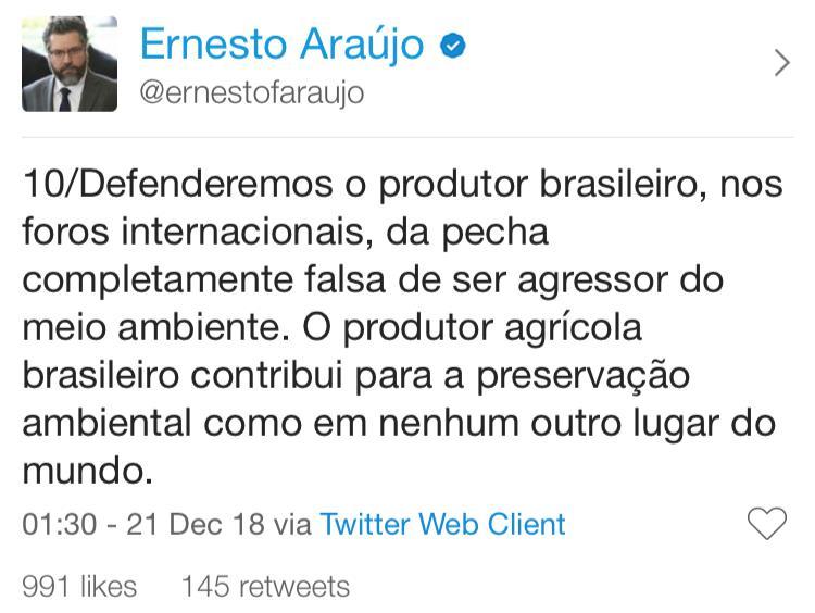 twitter do ernesto araujo 10