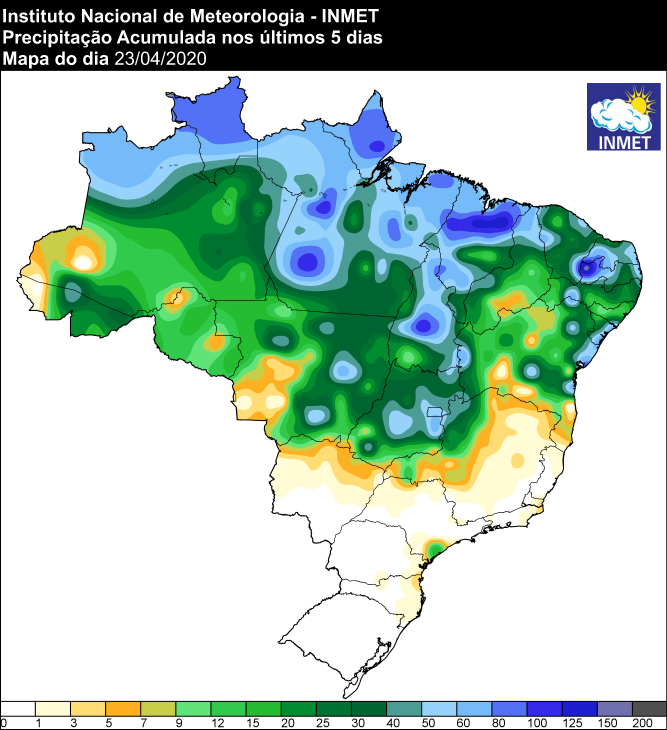 Acumulados de chuvas - Inmet - 24/04