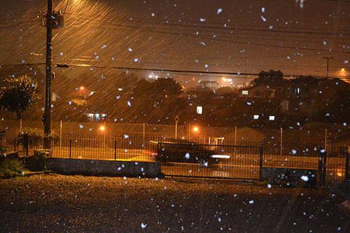 Neve no sul - 27/08 - Caxias do Sul