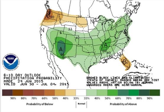 NOAA 6 a 10 dias - EUA 2015.16