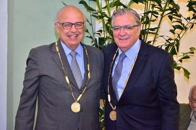 Presidente da SNA, Antonio Alvarenga e Cesario Ramalho, novo membro da Academia Nacional de Agricultura