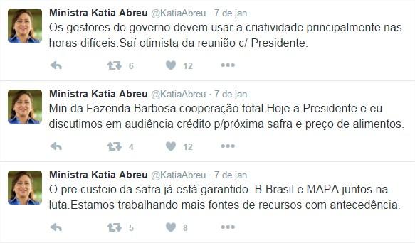 Custeio - Twitter Kátia Abreu