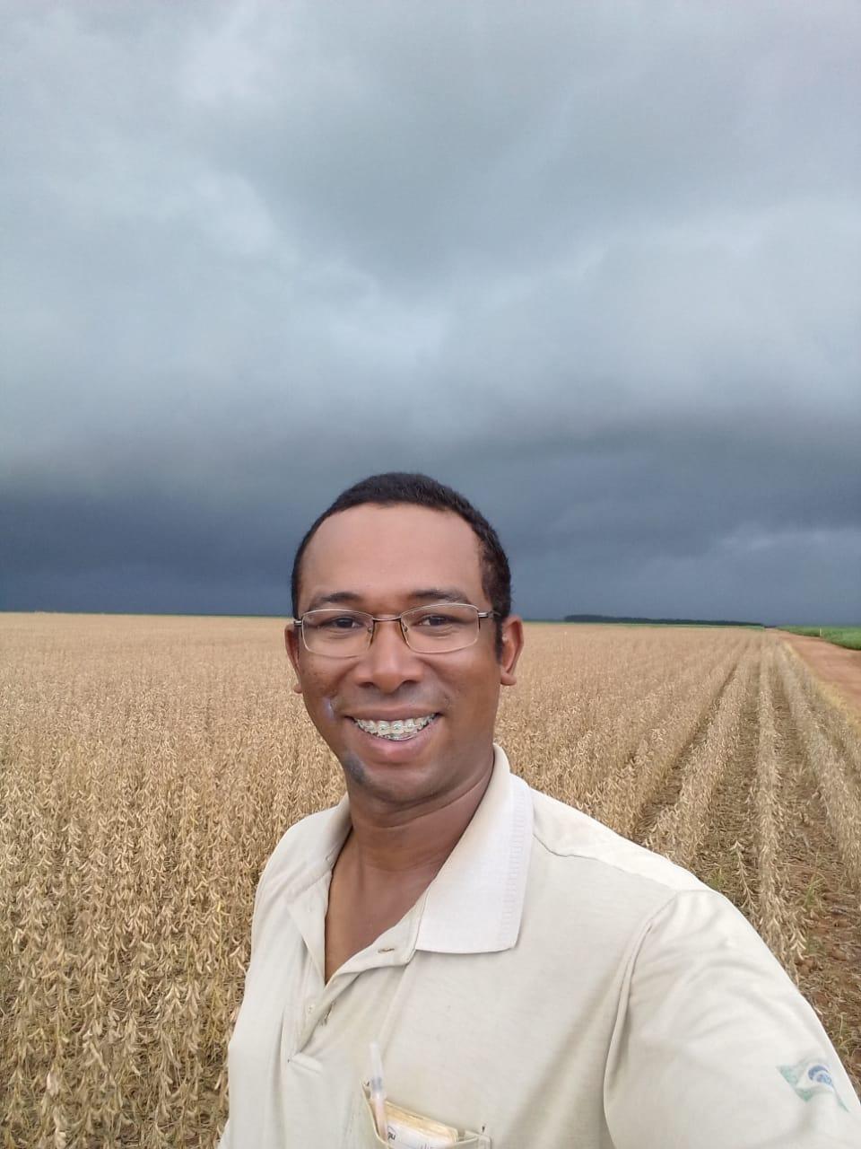 Chuvas chegando na Fazenda Morena, em Campo Novo do Parecis (MT). Envio do Técnico Agrícola Antonio Robis