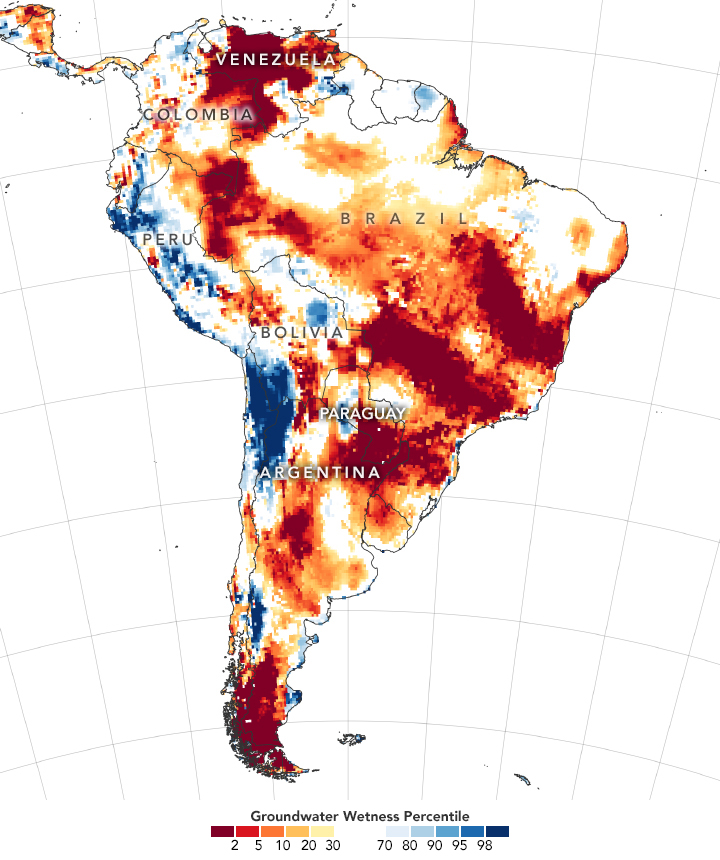 Seca América do Sul