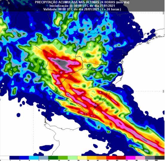 Chuvas sul - 24 horas - Inmet - 2701