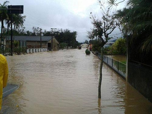 Chuvas em Corupá