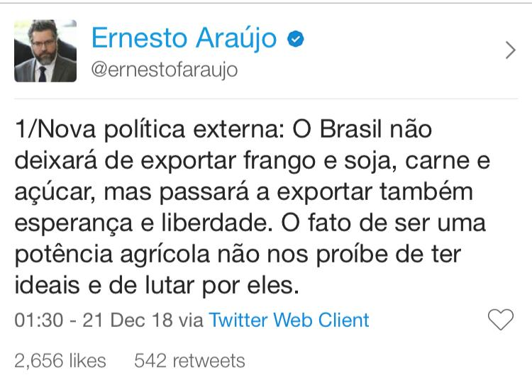 twitter do ernesto araujo 1