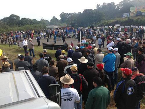 Manifestação em Cunha Porã/SC 2