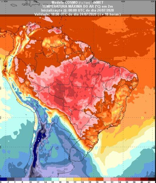 Temperaturas - Inmet - 2407