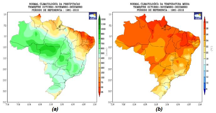 Prognóstico por região na primavera - Inmet