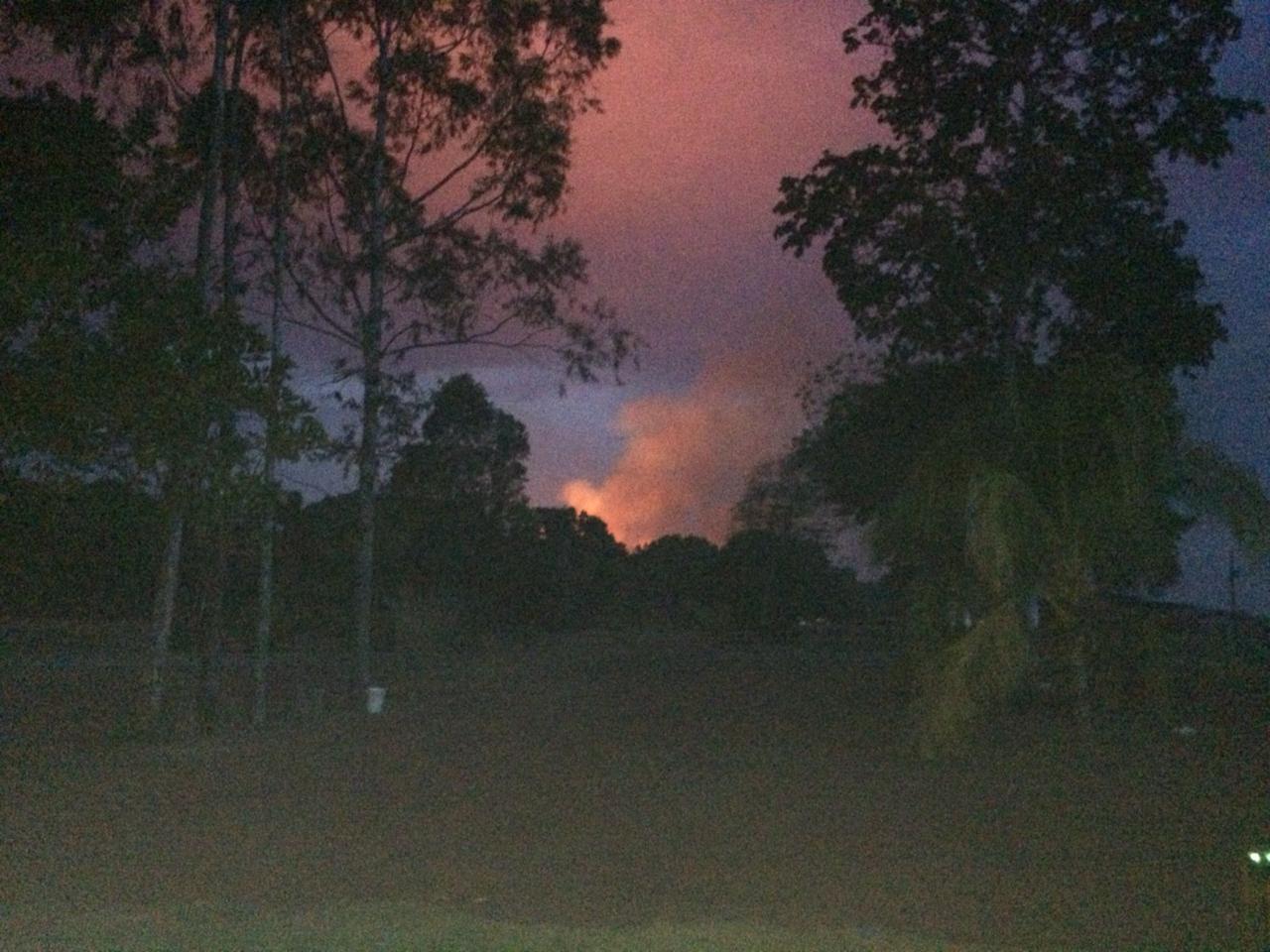 Incêndio em Porto Nacional (TO). Foto enviada por Dari Fronza
