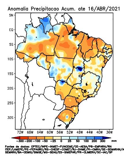 Gráficos das previsões de chuvas para os próximos dias - Fonte> Luiz Renato Lazinski