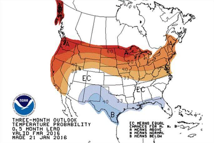 Clima nos EUA Safra 2016.17 - Mapa NOAA 1