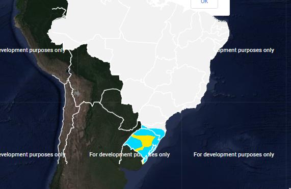Mapa com a previsão de geada para quinta-feira (27) - Fonte: Inmet
