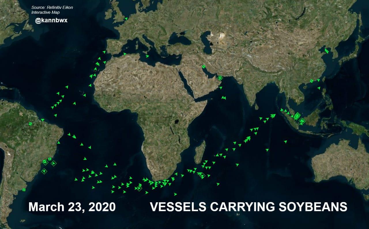 Navios de soja 2020