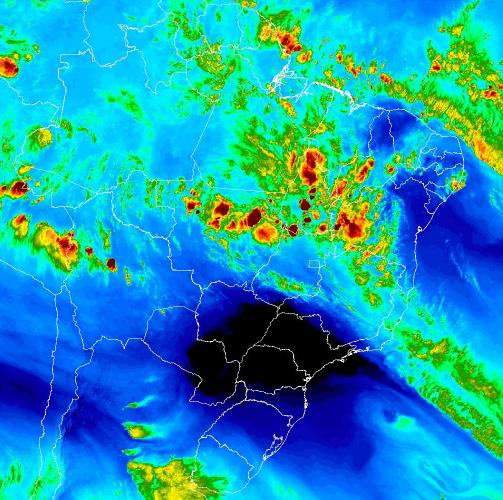 Mapa com imagem de satélite de todo o Brasil nesta sexta-feira - Fonte: Inmet