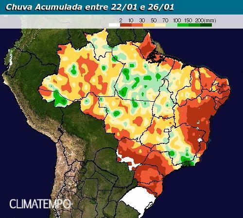 Chuvas de 22 a 26 de janeiro - Climatempo