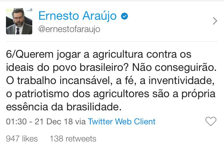 twitter do ernesto araujo 6