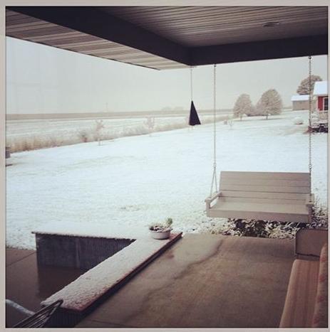 Neve em Iowa