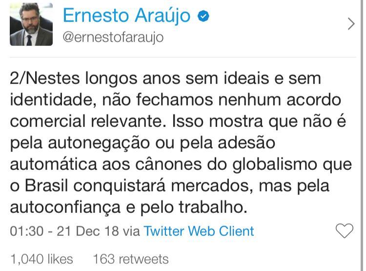 twitter do ernesto araujo 2