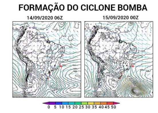 Formação Ciclone Bomba - Climatempo