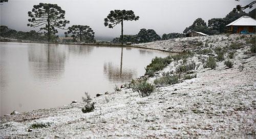 Neve em São José dos Ausentes - Foto Veja