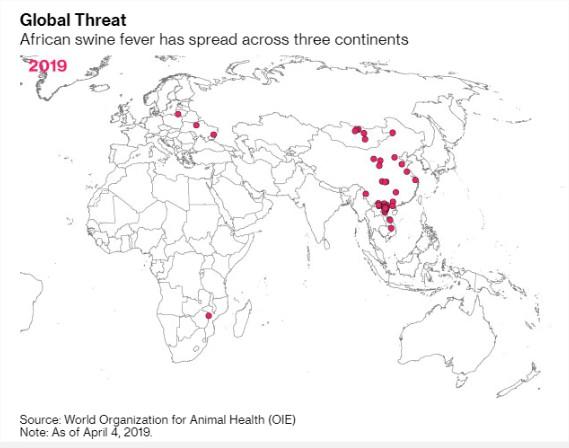 Mapa peste suína