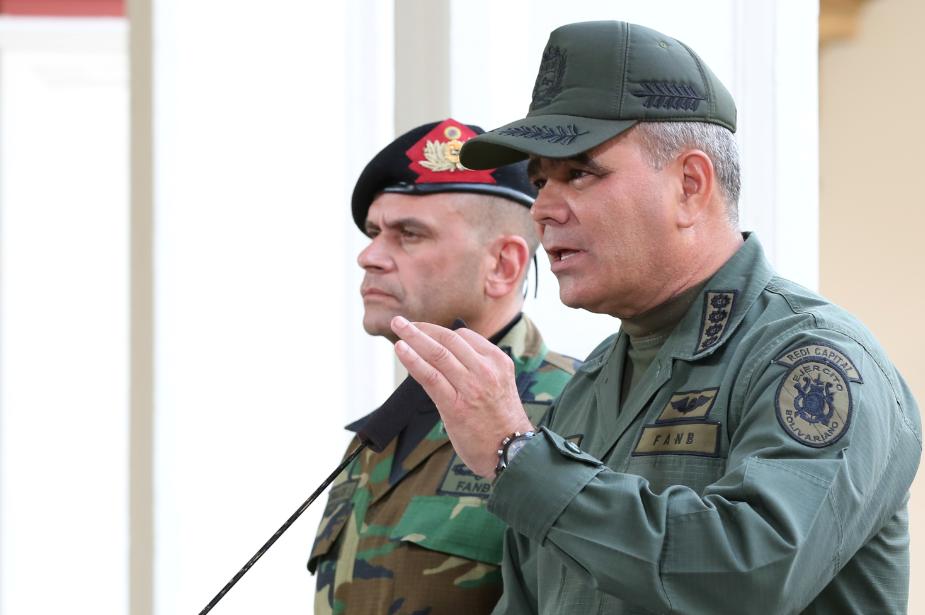 Ministro da Defesa da Venezuela diz que Forças Armadas seguem ao lado de Maduro