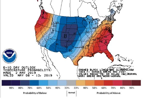 EUA 6 a 10 dias - NOAA