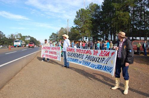 Manifestação em Laranjais do Sul/PR