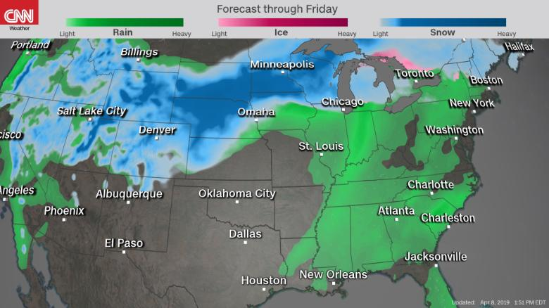 Previsão 3ª feira EUA - CNN
