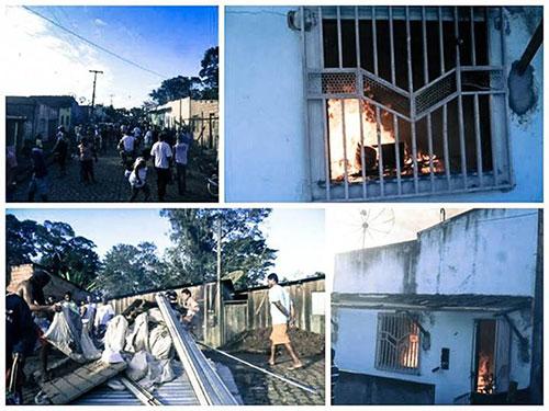 Incêndio casas de indígenas tupinambá  4