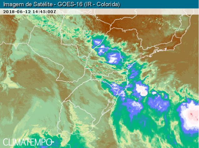 Imagem do satélite da climatempo