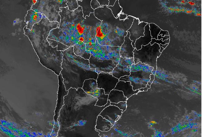 Imagem de satélite nesta sexta-feira (24) em todo o Brasil - Fonte: Inmet