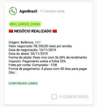 boi chegou aos R$ 200,00/@ - AgroBrazil