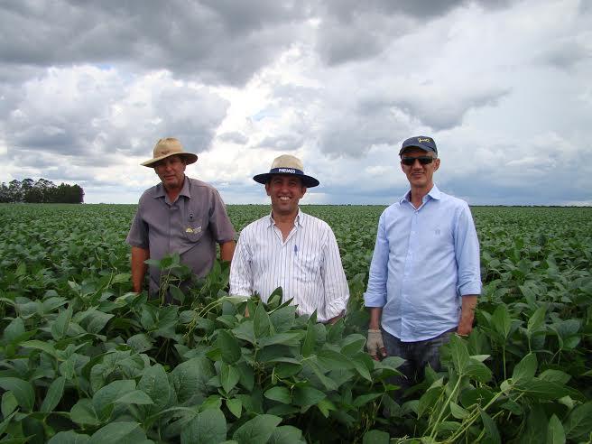 Imagem do dia  - Rogério Batistela, Armando Araujo e Claudicir Justi em Jaborandi (BA). Envio do engenheiro agrônomo Armando Ayres de Araujo