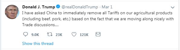 Tweets Trump