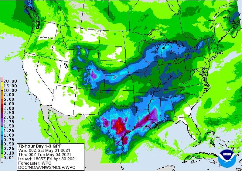 Clima nos EUA - Fontes: NOAA/CWG