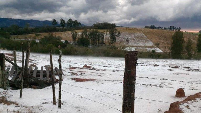 Granizo na região de Andradas/MG