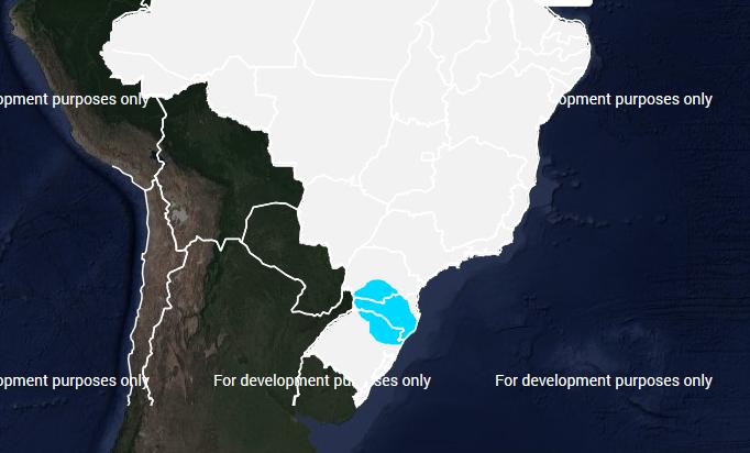 Mapa das áreas com previsão de geada nesta sexta-feira (24) - Fonte: Inmet