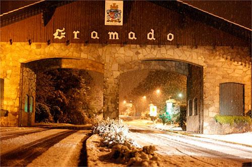 Neve no sul - 27/08 - Gramado