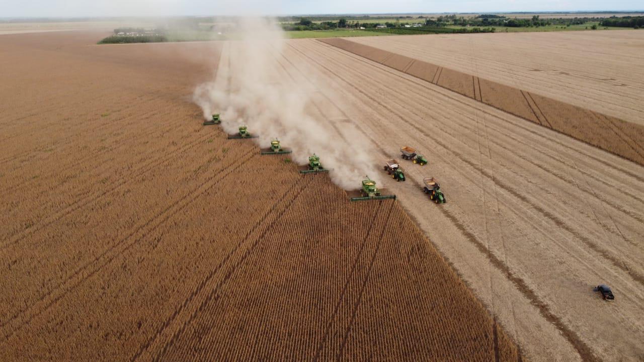 Colheita de Soja safra 2020-2021 na Fazenda Jaraguá, município de Campo Grande (MS) - Marcio Duch