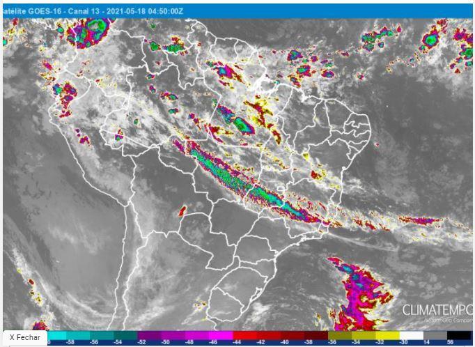 Mapa Climatempo - Tempo seco - 180521