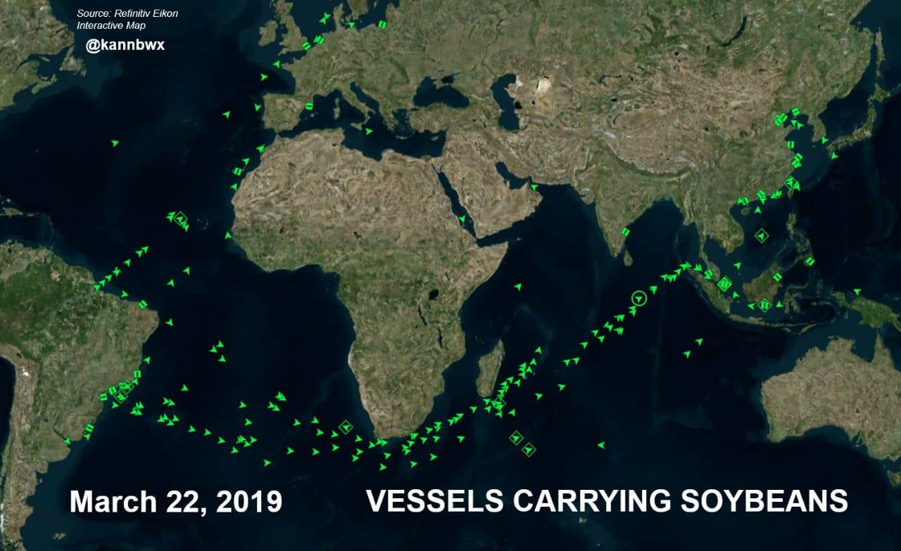 Navios de soja 2019