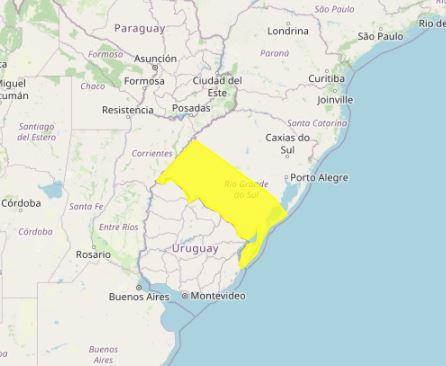 Alerta chuvas no Sul - Inmet - 220621