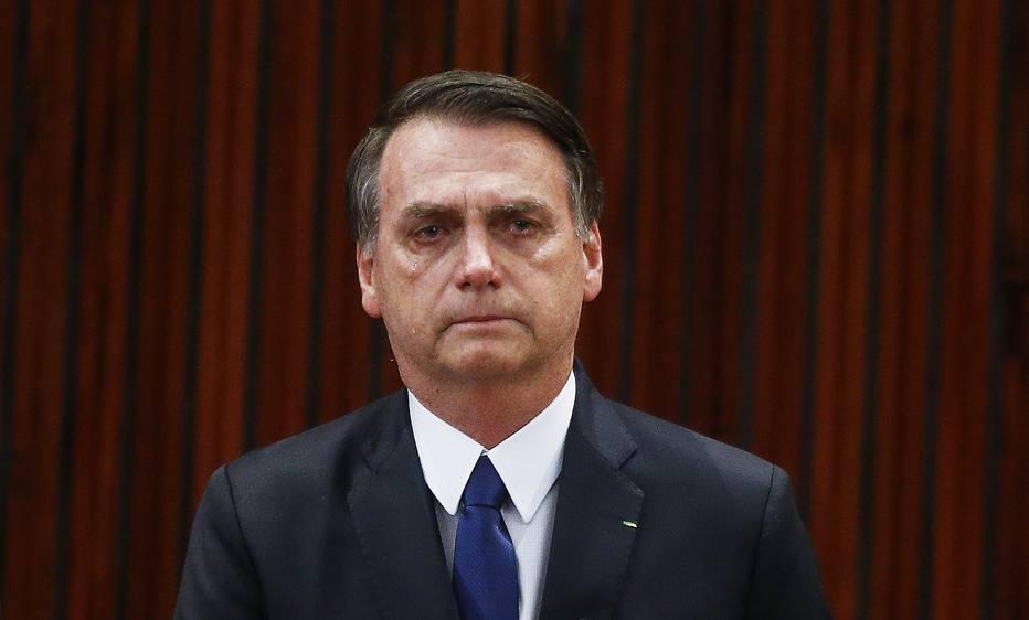 Jair Bolsonaro emocionado em cerimônia de diplomação no TSE - Foto: Dida Sampaio - Estadão