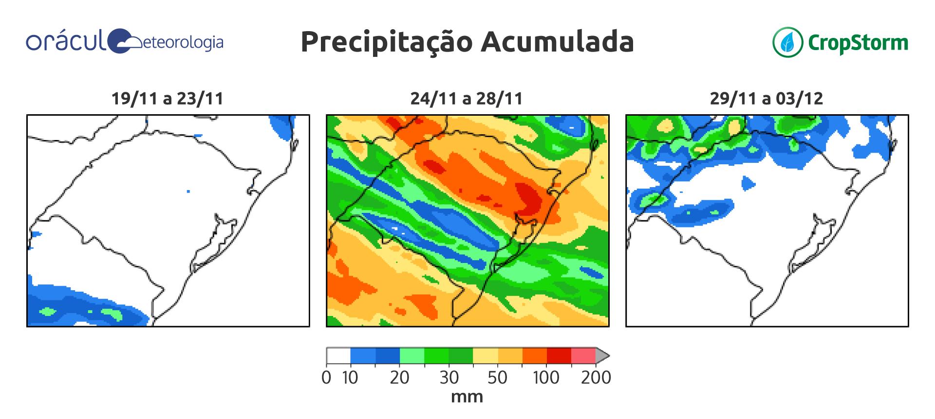 Mapa precipitação - Oráculo
