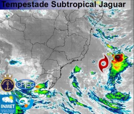 Tempestade subtropical Jaguar - Fonte: Inmet