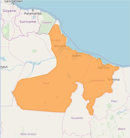 Mapa das áreas com alerta de acumulado de chuva nesta 5ª feira - Fonte: Inmet